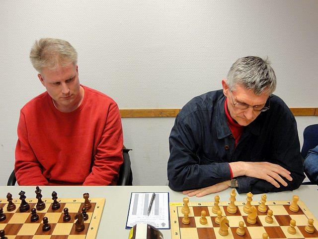 Brett 1 - Helge(links), Brett 2 - Rolf(rechts)