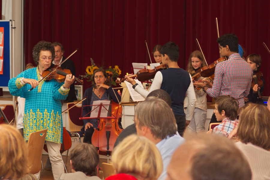 Musiker aus der Klimaschutzsiedlung Klein Borstel