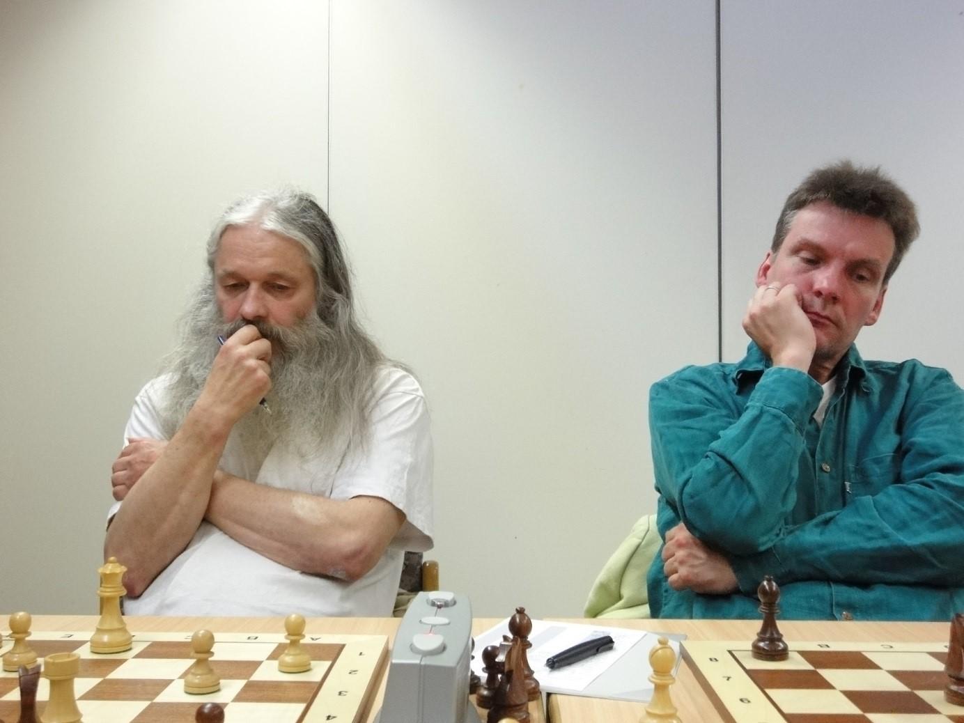 Die verstorbenen HSK 11 Spieler Reiner Basteck und Udo Figger (v.l.n.r., Aufnahme aus dem Jahr 2009)